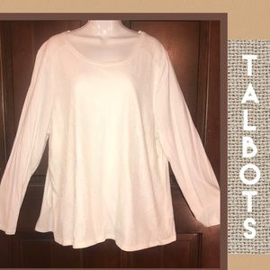 Talbots Lace Front Detail Top